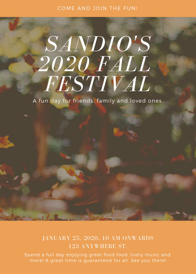 Orange Fall Festival Flyer - Templates by Canva