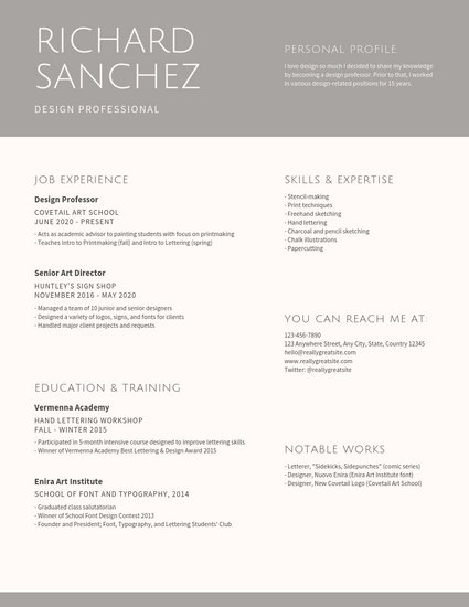 Customize 90+ Graphic Design Resume templates online - Canva