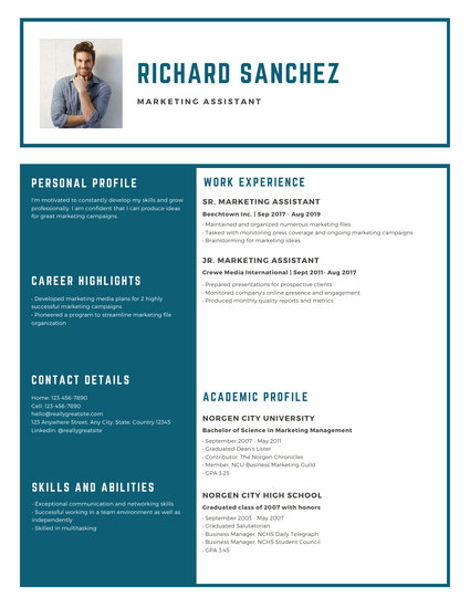 Blue Simple Modern Resume - Templates by Canva