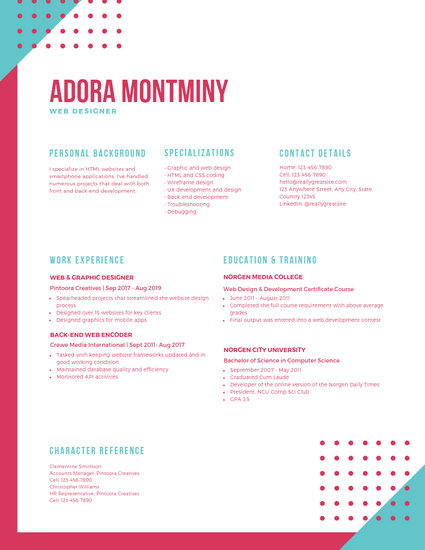 Colorful Funky Shapes Creative Resume - Templates by Canva