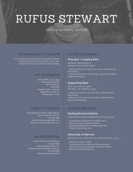 Customize 245+ Photo Resume templates online - Canva