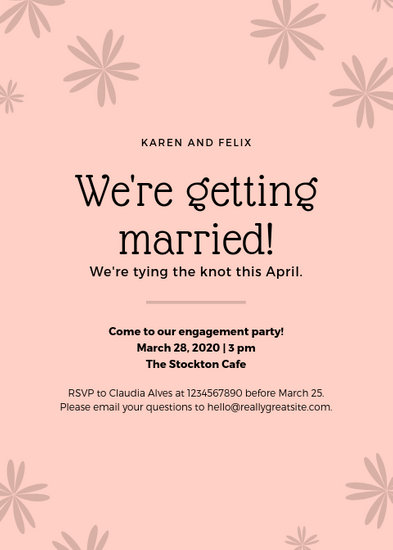 Customize 153+ Wedding Announcement templates online - Canva