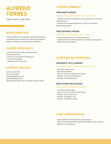 Customize 16+ Scholarship Resume templates online - Canva - Resume For Scholarship