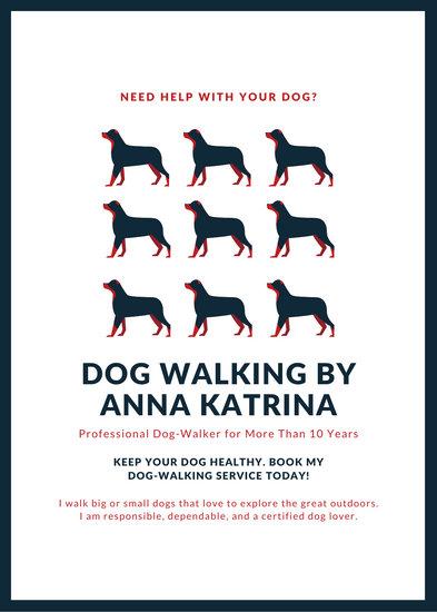 dog walking poster ideas