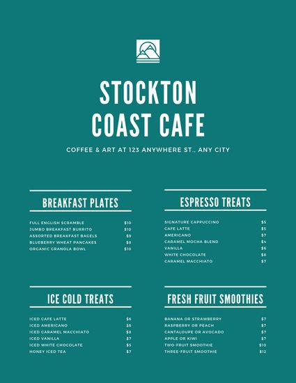 Customize 88+ Cafe Menu templates online - Canva