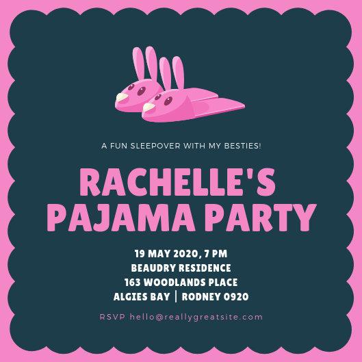Customize 2,892+ Pajama Party Invitation templates online - Canva