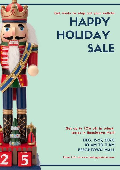 Nutcracker Holiday Sale Advertising Poster - Templates by Canva