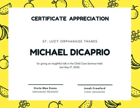 Customize 63+ Appreciation Certificate templates online - Canva