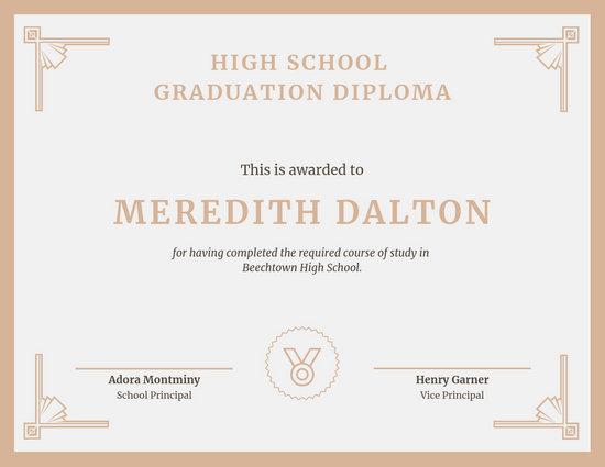 Customize 61+ Diploma Certificate templates online - Canva