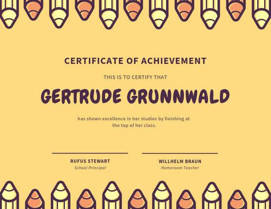 Customize 130+ School Certificate templates online - Canva