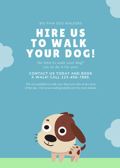Customize 66+ Dog Walker Flyer templates online - Canva