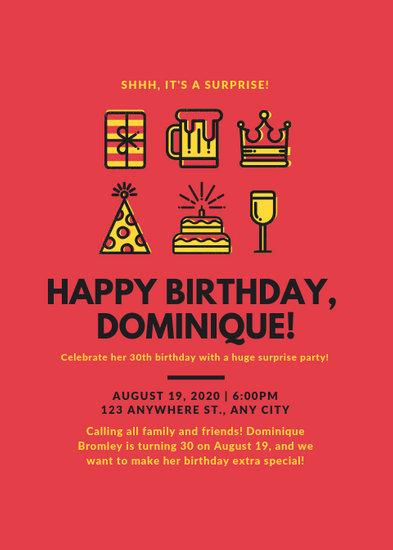 Customize 61+ Birthday Flyer templates online - Canva