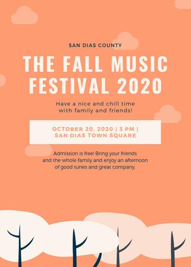 Peach Tree Fall Festival Flyer - Templates by Canva