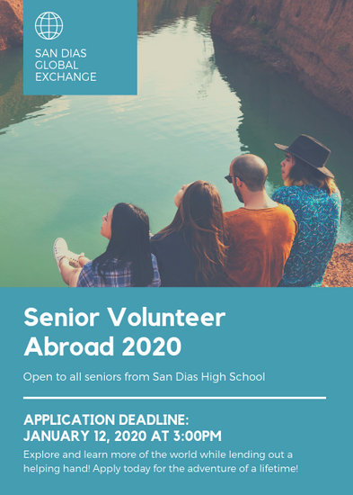 Blue Students Travel Photo Volunteer Flyer - Templates by Canva
