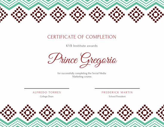 Customize 92+ Completion Certificate templates online - Canva