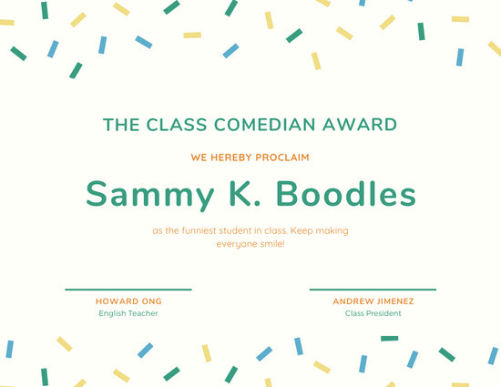 Customize 45+ Funny Certificate templates online - Canva