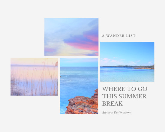 Summer Travel Photo Collage - Templates by Canva