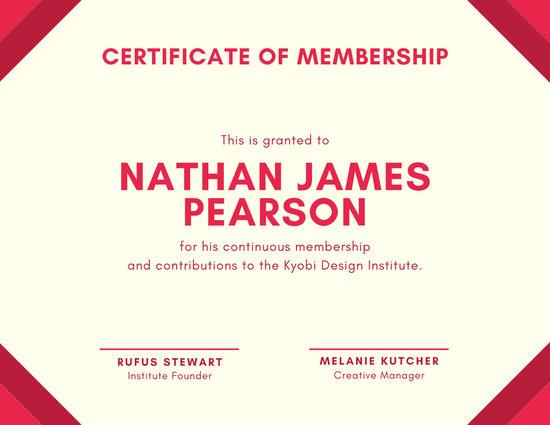 Customize 54+ Membership Certificate templates online - Canva