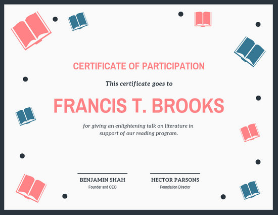 Customize 51+ Participation Certificate templates online - Canva