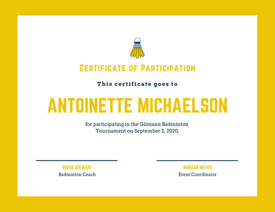 Customize 52+ Sport Certificate templates online - Canva