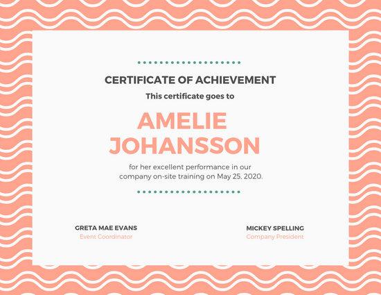 Customize 43+ Achievement Certificate templates online - Canva