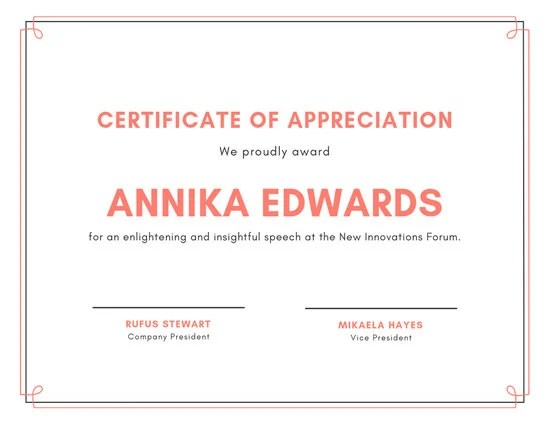 Customize 63+ Appreciation Certificate templates online - Canva