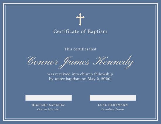 Elegant Baptismal Certificate - Templates by Canva