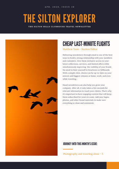 Blue and Orange Asian Travel Newsletter - Templates by Canva