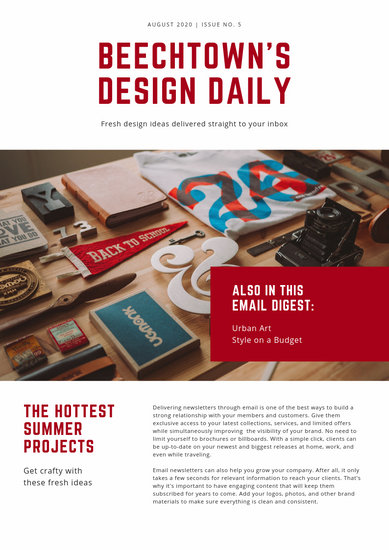 Customize 46+ Company Newsletter templates online - Canva
