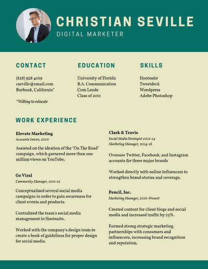 Customize 99+ Corporate Resume templates online - Canva