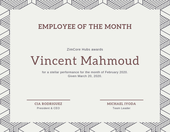 Customize 144+ Employee Of The Month Certificate templates online