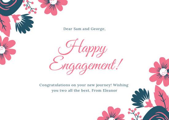 Customize 82+ Engagement Card templates online - Canva