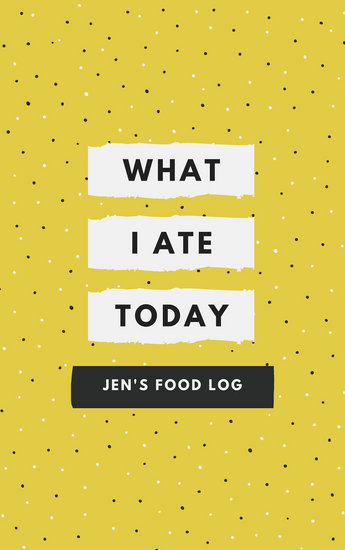 Yellow Polka Dots Food Journal Cover - Templates by Canva