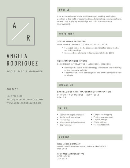 Customize 388+ Minimalist Resume templates online - Canva