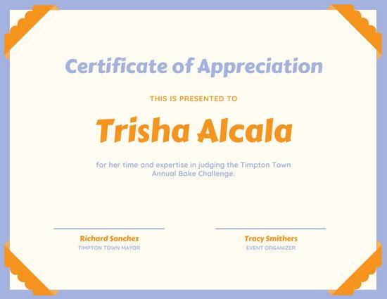 certificate of appreciation for teachers template