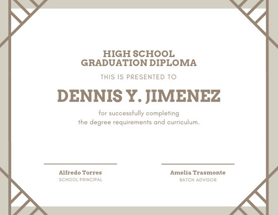 Customize 61+ Diploma Certificate templates online - Canva