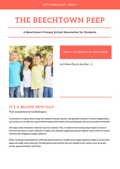 Teal and White Back to School Newsletter - Templates by Canva