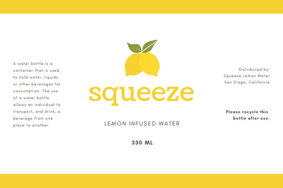 Customize 78+ Water Bottle Label templates online - Canva