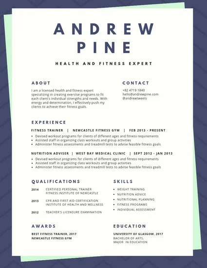 Pink and Mint Wavy Bordered Colorful Resume - Templates by Canva
