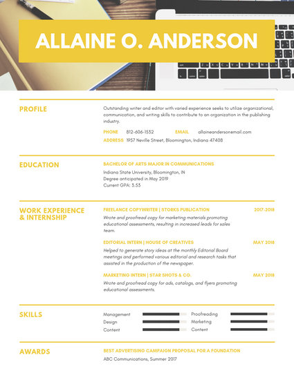 Mint Green Photo Header Scholarship Resume - Templates by Canva
