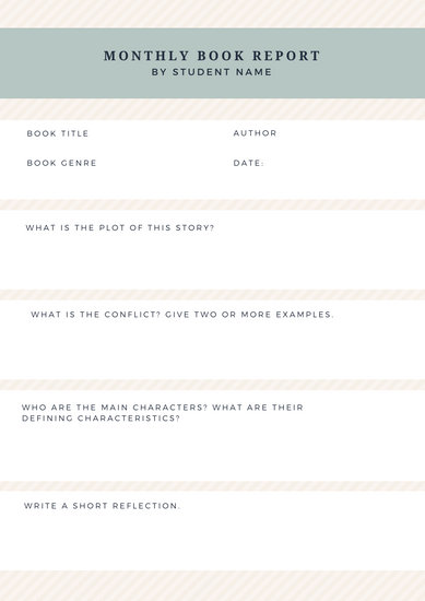 Green Minimal Highschool Book Report - Templates by Canva