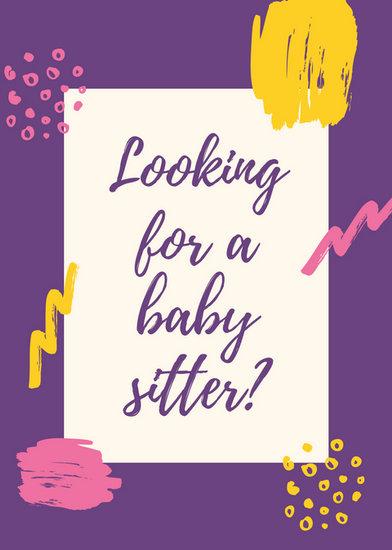 Customize 57+ Babysitting Flyer templates online - Canva - babysitting pamphlets