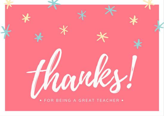 Customize 59+ Teacher Thank You Card templates online - Canva