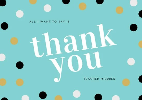 Customize 3,561+ Thank You Card templates online - Canva - sample dot game template