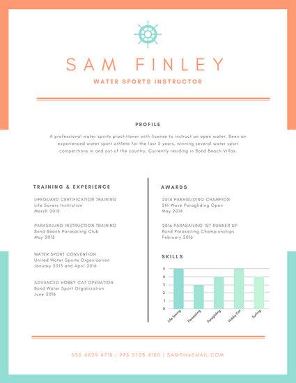 Sports athlete resume template \/ Rethink-drivingml - sports resume template