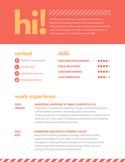 Customize 397+ Creative Resume templates online - Canva