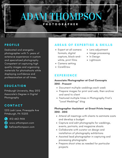 Customize 320+ Photo Resume templates online - Canva - digital image processing resume