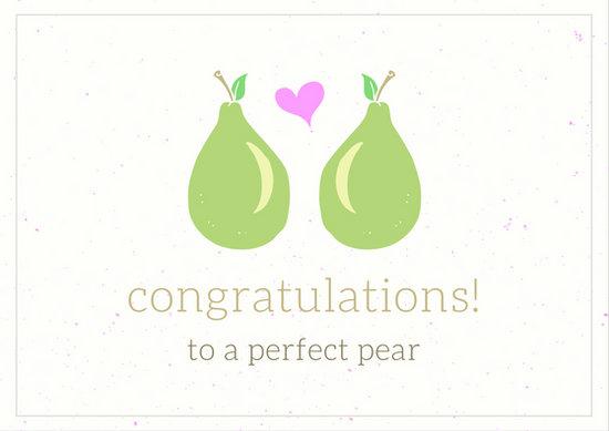 Peach Engaged Couple Scalloped Edge Engagement Card - Templates by Canva - engagement card template
