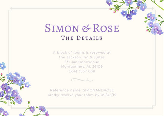 Customize 607+ Wedding Reception Card templates online - Canva