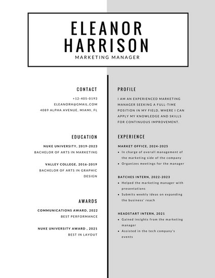 Customize 527+ Simple Resume templates online - Canva